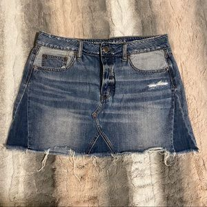 AE Distressed Mini Skirt